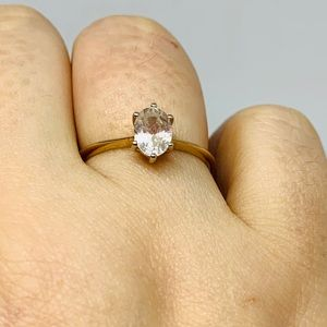 Rose Gold Plated Ring Size 8